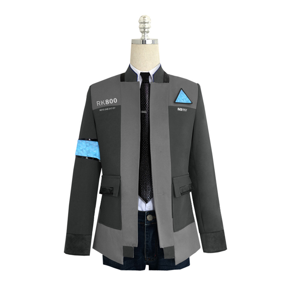 Game Detroit: Become Human Connor RK800 Agent Suit Uniform Tight Unifrom Cosplay Costume for Halloween jacket full set