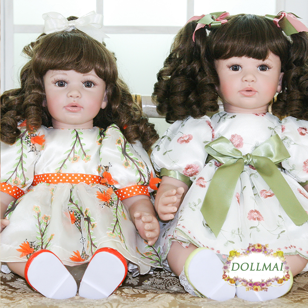 59 cm Silicone souple Reborn bébé fille poupée réaliste jumelles soeurs Bebe Reborn poupées mode jouets pour filles bebe reborn menina cadeau
