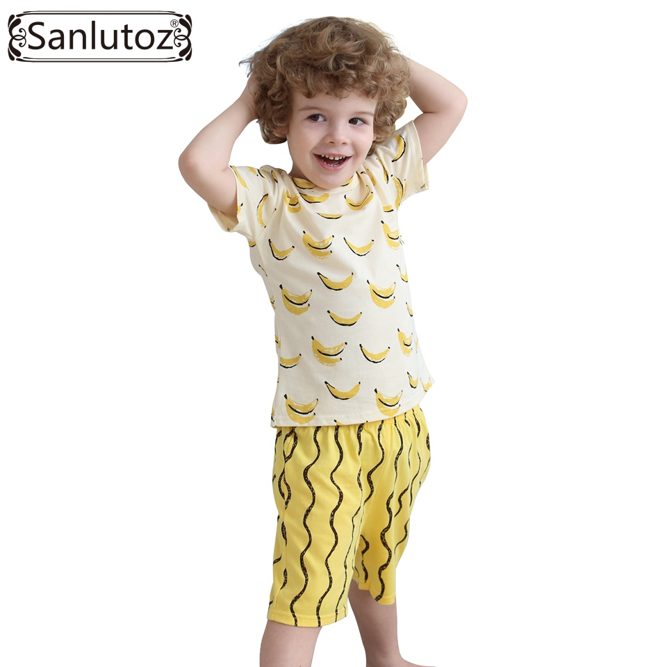 Boys Clothing Set Cotton Kids Clothes Summer Children Clothing Set for Boys Sport Suits Banana (Tshirts + Shorts) Brand 2016