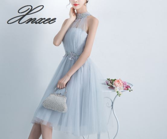 Dress 2019 new fashion slim party party hanging neck dress female summer
