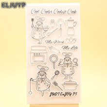 KLJUYP Chef Clear Stamps Scrapbook Paper Craft Clear stamp scrapbooking 464