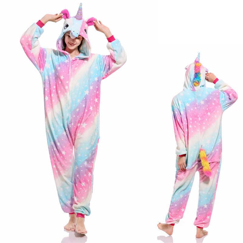 8cc5dd172c86 ... Животных Onesie взрослых Детские пижамы Star Единорог Лев медведь летучая  мышь панда, коала обезьяна Пикачу ...