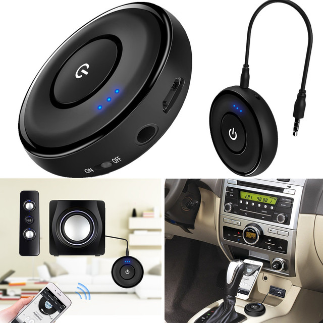 Bluetooth 4.1 Audio Receiver A2DP Wireless Adapter for Home Audio Music Streaming Sound System Car Kits and Car Speakerphones