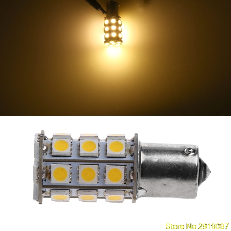 New Arrive 1Pc Car Warm White 1156 BA15S Camper Trailer 5050 27-SMD LED Light Bulb Drop Shipping Support ...