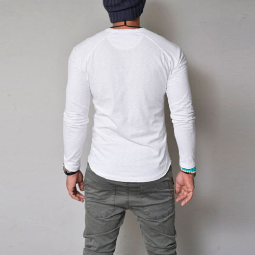 f4b4ee19 Aliexpress.com : Buy Fashion Mens Slim V Neck Long Sleeve Muscle Shirt  Stylish New Males Casual Fit Tops Blouse from Reliable Casual Shirts  suppliers on ...