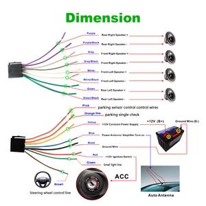 """Image 5 - Podofo autorradio 2 din con pantalla táctil HD de 7 """", función Mirrorlink, Bluetooth, reproductor Multimedia MP5 estéreo, cámara de visión trasera"""