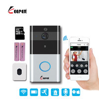 Keeper IP Video Intercom WI FI Video Door Phone Door Bell WIFI Doorbell Camera For Apartments IR Alarm Wireless Security Camera