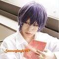 Hakkenden Touhou Hakken Ibun Inuzuka Shino Short Purple 35cm Cosplay Wig