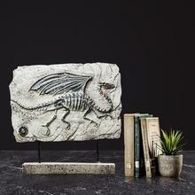 Dinosaur Fossil Resin Decoration Old Animal Specimen Livingroom Accessories Special Office Desk Decor Luxury Gift