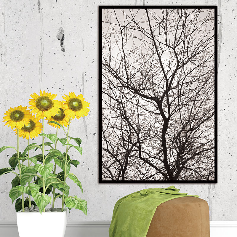 Nordic Trees Winter Abstract Wall Pictures for Living Room Art Decoration Pictures Scandinavian Canvas Painting Prints No Frame