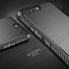 Pour Huawei P10 Plus Case Brossé Texture Silicone Fundas de Carbone fibers Non-Slip En Caoutchouc de Couverture Arrière Pour Huawei P10 Plus Téléphone cas