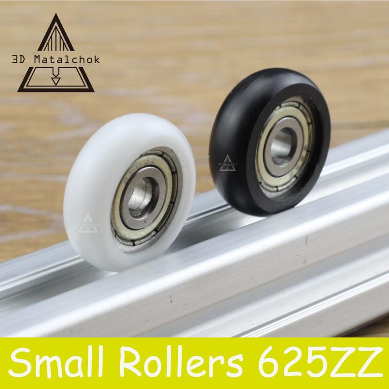 3D Printer Parts 1/9/12PCS 625ZZ POM Bearings Passive Round Roller Wheel With Kossel Nylon Plastic Wheel