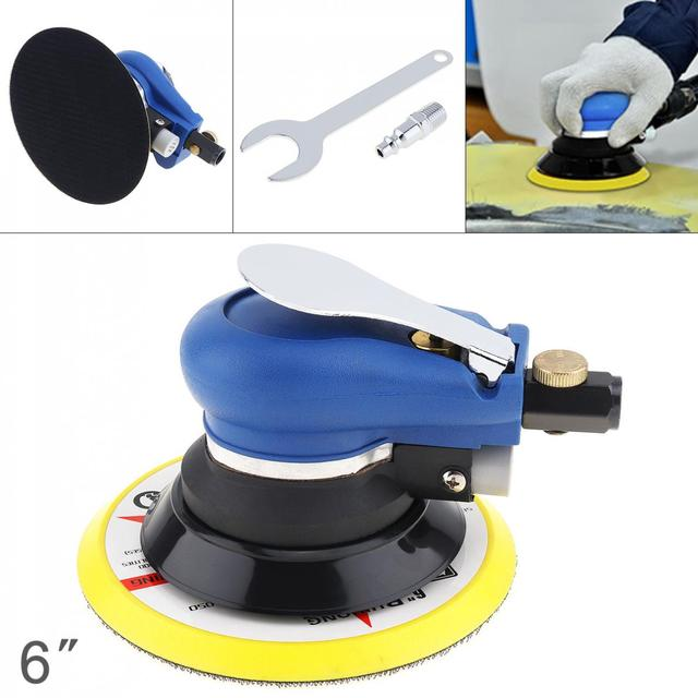 6 Inch Matte Surface 9000rpm Pneumatic Polishing Machine Random Orbital with Sander Pad for Cars Polishing / Grinding / Waxing