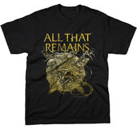 ALL THAT REMAINS Bird Skeleton T SHIRT Brand New Official High Quality Custom Printed Tops Hipster