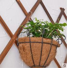 цены Iron wall hanging coconut palm basket hanging basket flower rack
