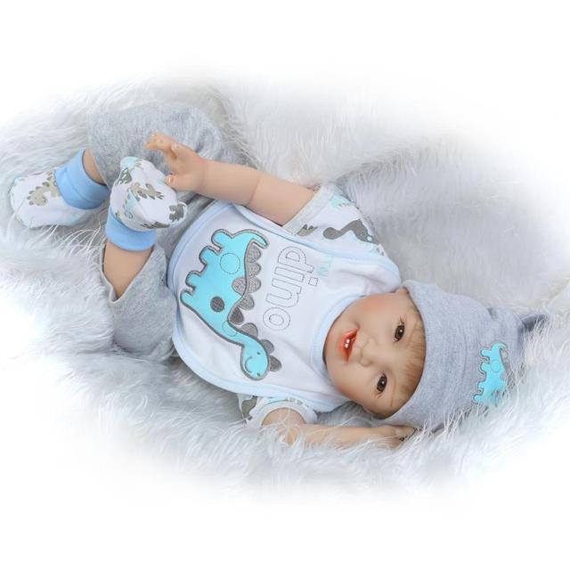 Преследовать 55 см натурально реалистичные детские Куклы новорожденных силиконовые возрождается для маленьких мальчиков Куклы для продажи Boneca Bebe Reborn Menino 55 см