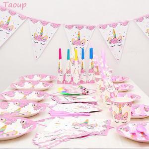 Image 4 - Taoup結婚式babyshowerユニコーンケーキトッパー結婚式の装飾ケーキ装飾用品ユニコーン誕生日パーティーの装飾unicornio