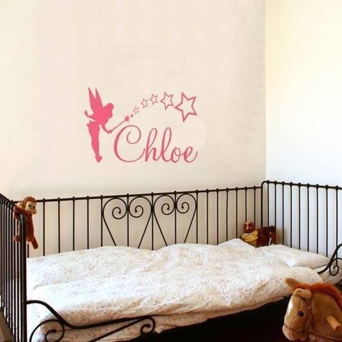 Customer Made Tinkerbell Personalized Any Name Girls Vinyl Wall Sticker Home Decor Personalized Name