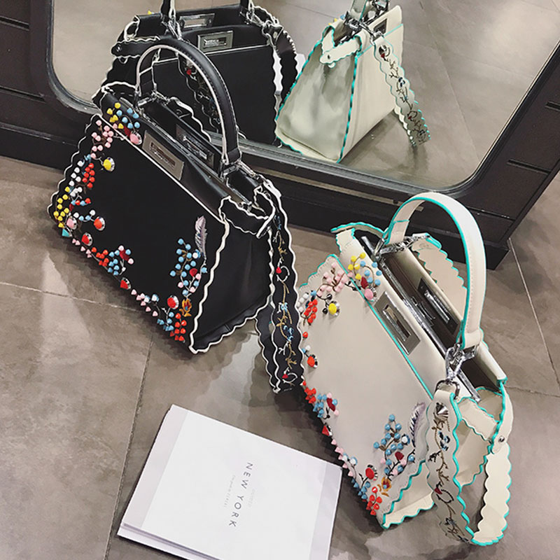 ombro rebite bolsas de luxo Formato : Casual Tote
