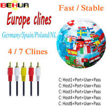 7 Lines Male to Female AV Cable Cline for Satellite TV Receiver DVB-S2 1 Year Clines for Europe via USB Wifi Freeset V7 V8 Super