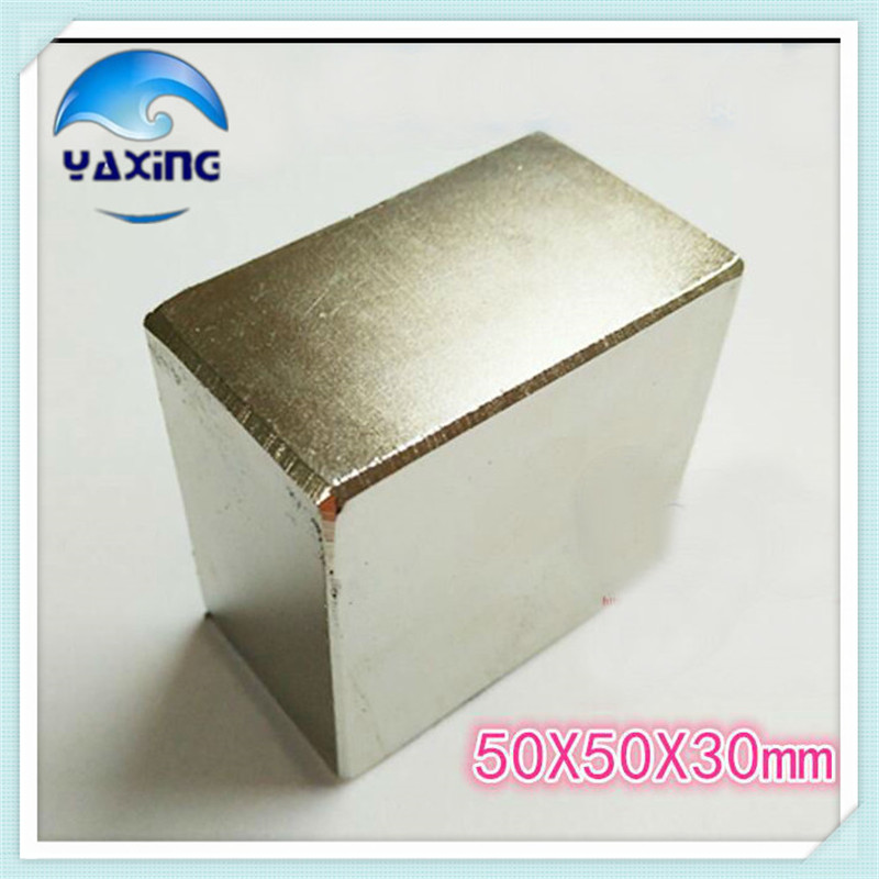 N52 Neodymium Magnet 1PCS 50 x50 x30mm Super Strong Rare Earth Permanet Magnet Powerful Block Neodymium Magnets