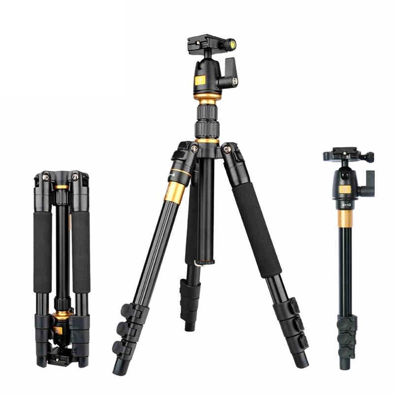 Zomei Q555 support de trépied d'appareil-photo flexible en aluminium professionnel avec tête sphérique pour appareils photo DSLR portables