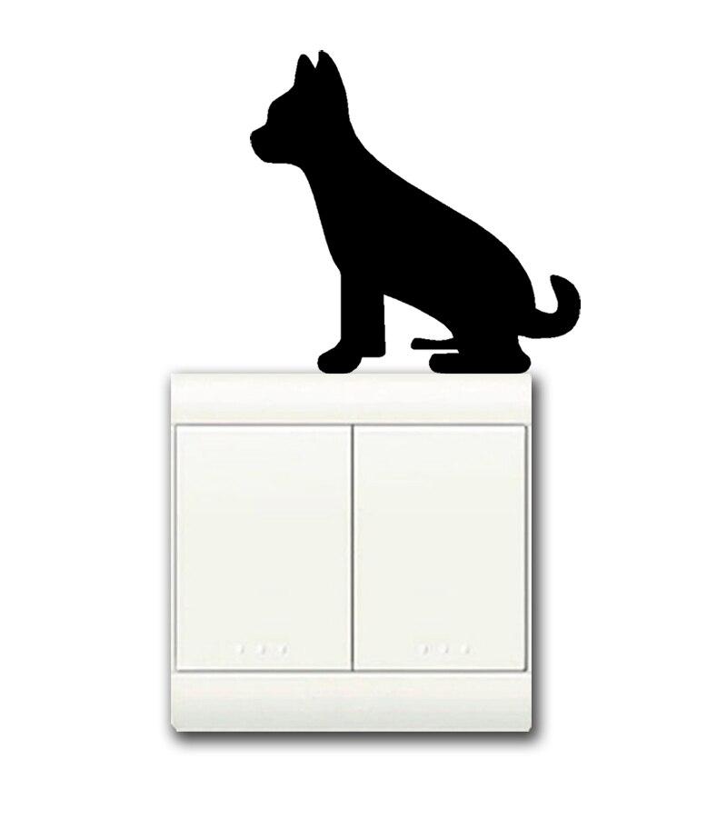 Dashound light switch decal sticker bedroom livingroom girl boy home decor