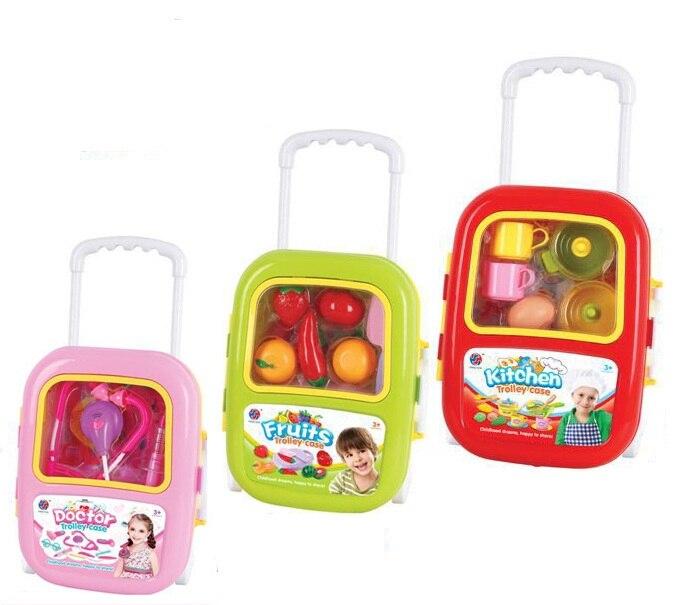 Cour porte-bagages enfants jouer maison jouets fille ensembles cuisine docteur jouets bébé cuisine jouets coupe Fruit jouet - 4