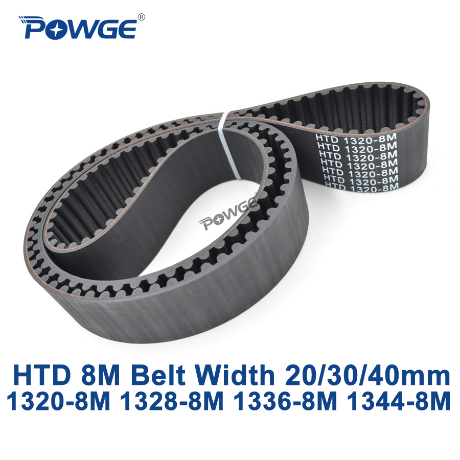 цена на POWGE HTD 8M synchronous Timing belt C=1320/1328/1336/1344 width 20/30/40mm Teeth 165 166 167 168 HTD8M 1320-8M 1328-8M 1344-8M