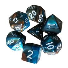 Mooistar 4066D 7pcs Set TRPG Game Dungeons Dragons Polyhedral D4 D20 Multi Sided Acrylic Dice