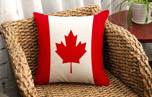 Canadian Maple Leaf Flag National Flags Emoji Pillow Massager Interesting Cheap Decorative Pillows Canada