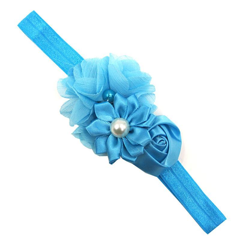 BMF TELOTUNY Fashion 17PCS Newborn Toddler Chiffon Lace Flower Baby Girls Turban Headband Head Wrap Apr10 Drop Ship