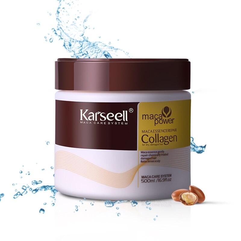 цена на Keratin Treatment Steam Hair Mask 500ml Argan Oil Repair Damaged Split Ends Restore Smooth All Types Hair & Scalp Care Product