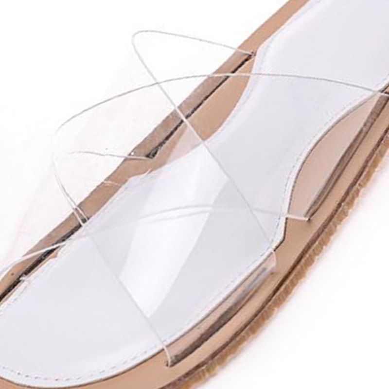 COVOYYAR 2018 Summer Flat Clear Shoes Women Transparent Slippers Slides  Fashion Open Toe Outside Beach Women Sandals WSL556-in Slippers from Shoes  on ... 55fd757bd609