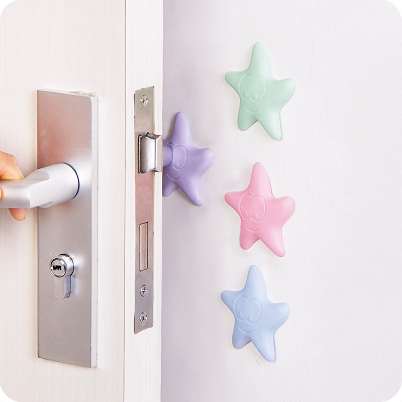 Multi-Function Starfish Case Phone Case Behind The Door Wall Crash Cushions Door Handle Mute Anti-Fender Thick Protection Cushio