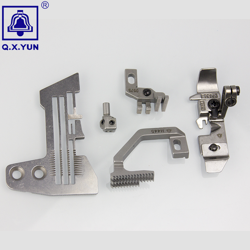 Q.X.YUN Industrial Sewing Machine Spare Parts   Gauge Set For SIRUBA 747  E809/H445/D575/P253E-4/KG142 Needle Plate , Feed Dog,