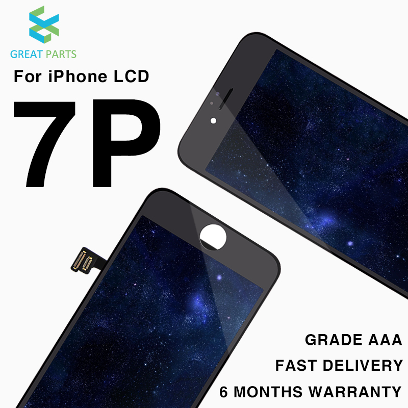 GREAT PARTS 10PCS Grade AAA Pantalla For iPhone 7 Plus LCD Display Touch Screen Assembly Replacement