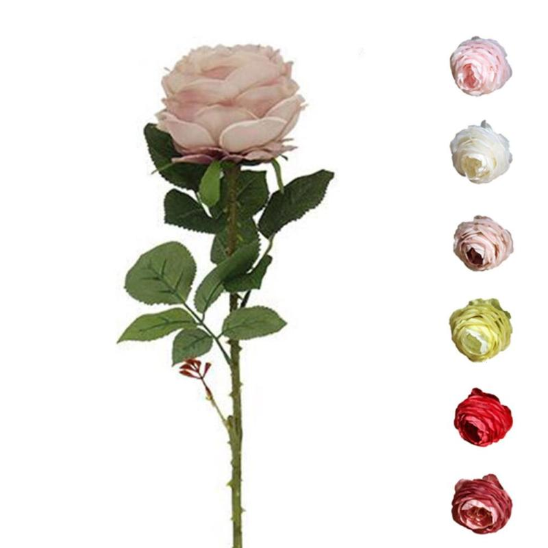Decorative Artificial Flower Simulation Rose Flower Holding Hand Wedding Home Background Flower Wall Photography Scenery #20
