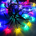 1*4.8M 20LED Solar-powered Christmas tree Shaped String Lights,Waterproof LED Twinkle Lights for Indoor/Outdoor Xmas Celebrating