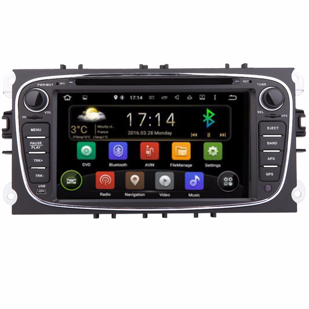 Free shipping Android 2Din 7 Inch Car DVD for FORD FOCUS MONDEO 2012 2013 2014 2015 With WIFI Radio GPS BT ford car dvd focus