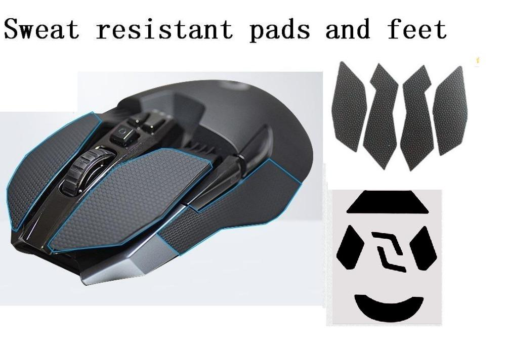 a82cf20b Para Logitech G903 ratón cinta antideslizante elásticos refinados  empuñaduras laterales almohadillas resistentes al sudor/pasta antisudor con  un ratón pies ...
