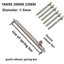 1.5mm Diameter 6PCS / lot watch repair tools & kits 18MM 20MM 22MM spring bar parts 304 Stainless steel pin
