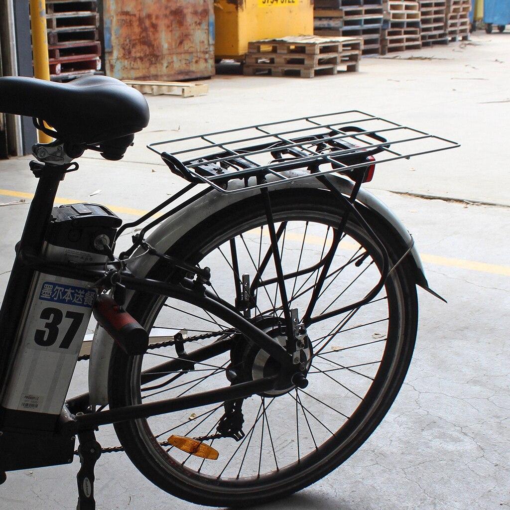 Bike Rear Rack Seat Luggage Carrier Bicycle Mountain Mount Pannier Black