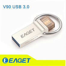Eaget V90 16 ГБ 32 ГБ 64 ГБ USB Flash Drive шифрования USB 3.0 OTG Смартфон pen drive материал металла интерфейсом USB для планшетных ПК