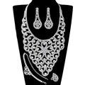 Para mujer de La Joyería Nupcial Conjuntos Collar Pendientes de Cristal Rhinestone Africano de La Joyería de Moda Pulseras Pendientes Anillos Collar