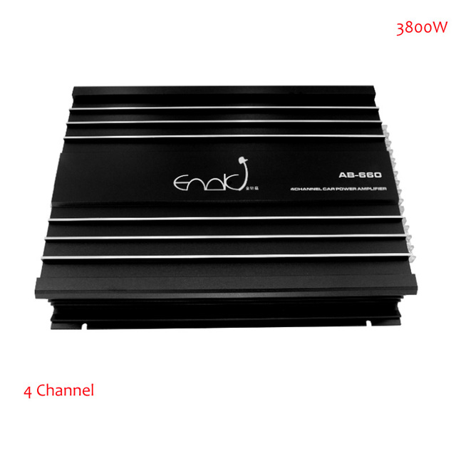 Best Price Car Audio Amplifier Stereo Multi-Channel 4 Channel High Power 3800W Double Bass Output Amplifiers