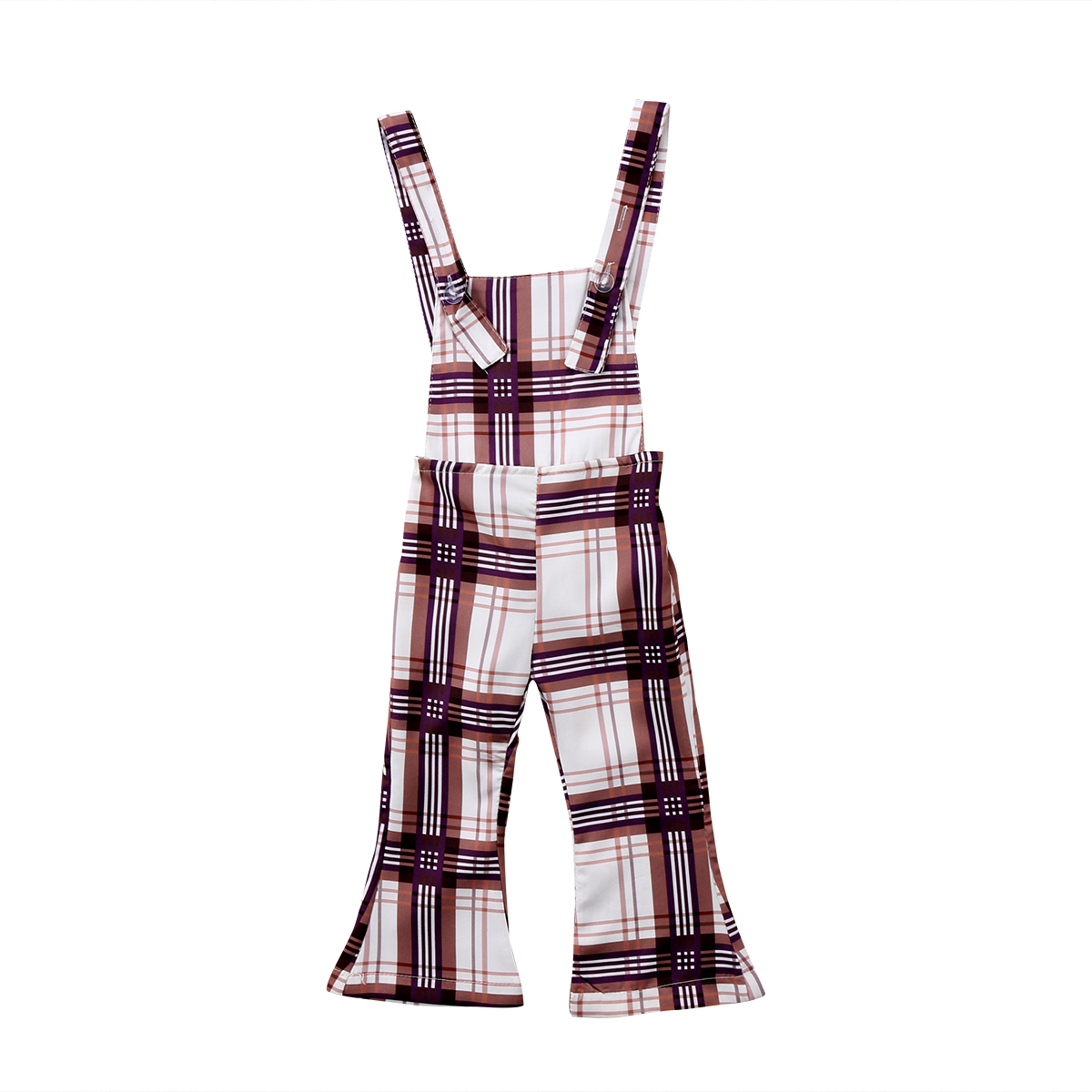 2018 Mädchen Lange Bib Hosen Glocke Böden Strampler Plaid Overalls Overall Outfits Backless Sommer Strampler
