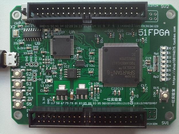 51FPGA LabVIEW FPGA  Development Board  XC6SLX9 XILINX Spartan6