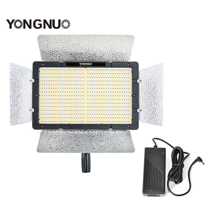 YONGNUO YN1200 + AC DC Power Adapter Intelligentized LED Video Light Ultra Thin Large Panel CRI95+ 3200K-5500K APP Send Bracket