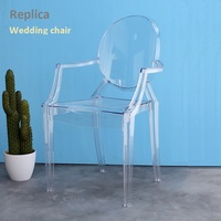 U BEST Office meeting armrest chair,Transparent devil hotel plastic chair,Nordic modern simple outdoor chair